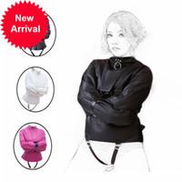 ПУ кожаное сексуальное женское белье с наручниками воротник сдержанность в BDSM рабство и рабское ролевое пространство, эротический продукт для секса