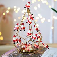 2021 Christmas LED Battery Lights Snowman / Arbre / Santa Lights Lantern Décorations de Noël Nouvel An Cadeau W-00528