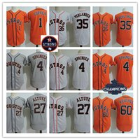Youth #4 George Springer 2017 Champion Jersey Kids #1 Carlos...