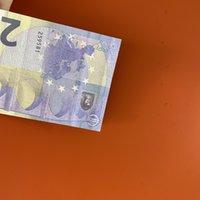 09 Banconota di vendita a caldo 20 Giocattolo e denaro film Shooting Euro Falso Televisione Practice Practice Puntelli Simulazione Bar Game token GTLWC