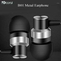 Boorui Stereo Auriculares B01 Stereo Bas Kulaklıklar Akıllı Telefonlar için 3.5mm Fişler-Free