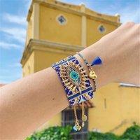 Zhongvi Miyuki Armband für Frauen Türkisch Glückliches Evil Augenarmbänder Pulseras Mujer 2020 Femme Schmuck Frau Handgemachte Webstuhl Perlen F1201