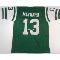 123 Don Maynard # 13 Dikişli Dikişli Retro Jersey Tam Nakış Forması Boyutu S-4XL veya Özel Herhangi Bir Adı veya Numara Forması