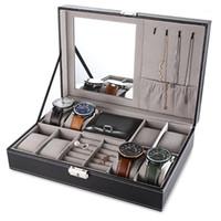 Multifunktionale Uhr Jewlery Dispaly Box PU Leder Uhr Ohrring Ring Halskette Hüllen Aufbewahrungskasse Display Halter Top Qualität1