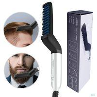 متعددة الوظائف مشط الشعر فرشاة لحية مستقيم مستقيم مستقيم اللحية الكهربائية استقامة مشط سريع الشعر الطراز للرجال 99