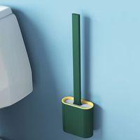 الفرشاة المحمولة فرشاة المرحاض فرشاة الإبداعية تنظيف فرش مجموعة فرشاة المرحاض حامل مجموعة دائم الحمام أداة نظيفة GWE6648