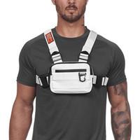 Mini sacchetti del toracquino uomo tattico gilet riflettente sicurezza ciclismo escursionismo zaino multi-funzioni viaggio tascabile tascabile