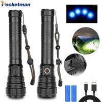 Фонарические фонарики Pocketman мощный светодиодный USB перезаряжаемый XHP70 водонепроницаемый зум-факел Использование 18650 26650 Battery1