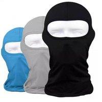 Protection extérieure multifonctionnelle Masque de visage complet Adultes Lycra Balaclava Headwear Hommes Ski Col de ski Masques de cyclisme Masque de sport