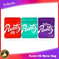 Runtz OG Mylar Bag White 3. 5g Purple Red Green Zipper Bag 3....