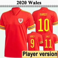 2020 Allen Ramsey Versão Version Mens Futebol Jerseys Wales National Equipe Bale Wilson Home Red Away Awar Yellow Football Camisa Manga Curta