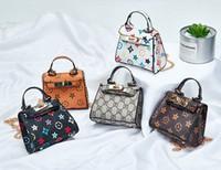 Saco de padrão clássico New Kids Bolsas Moda Bebê Mini Bolsa Bolsas De Ombro Adolescente Crianças Meninas Mensageiro Bolsas De Natal Presentes