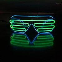 Fashion Sunglasses Frames Luminous Glasses LED Light Up Shades Flashing Rave Night Christmas Activities Wedding Birthday Party Decoration1