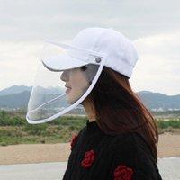 Cloches 패션 성인 자외선 차단제 모자 명확한 커버 여성 소녀 이동식 다기능 안티 타액 야구 모자 태양