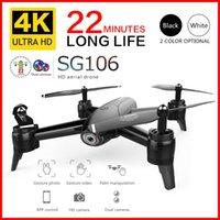 Drones SG106 RC Drone 4 K 1080 P 720 P HD Kamera Wifi FPV Optik Akış Hava Quadcopter Uzun Pil Ömürlü Çocuklar için Oyuncaklar