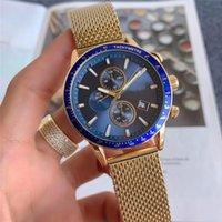 5 성급 브랜드 디자이너 남자의 다기능 석영 시계 울트라 얇은 스테인레스 스틸 밴드 캐주얼 하이 엔드
