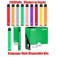 Authentic Kangvape Slick Plus Pod kit monouso 700mAh Batteria 4ml Pods vuoti 1200 Penna del dispositivo del dispositivo 1200 Penna vape VS XXL 100% originale