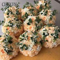 Fleurs décoratives Couronnes 10pcs 30cm Artificielle Roman Colonne Roman Colonne Soie pour la décoration de mariage Road Road Home Party Pographie Decor