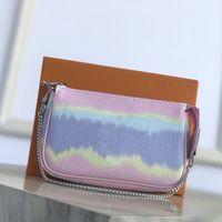 Escale Handbag Mujer Monedero Mini Designer Clutch Hobos Bag Silver Cadena New Tie Dye Gigante Serie Bolsas pequeñas