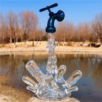 Equipamento de respingo funcional de vidro com 10mm feminino articulação de água bong