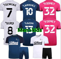 2020 Derby County Rooney Fussball Jersey Home Away erwachsene Kinder Kit Martin Lawrence Football Hemden 20/21 Derby County Weisheit Waghorn Uniform