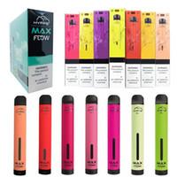 Hympe Max Flow Dispositif de Vape Dispositif électronique Cigarettes électroniques Kits 2000 Puffs E cigarettes Vaporisateur ajustable Vaporisateur 900mAh Batterie 60ml Pod Puissant