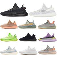 yeezy 350 V2 running shoes Static Refective kanye West sésame beurre semi crème jaune blanc Frozen Black Zebra Hommes Femmes Sneaker 36-47