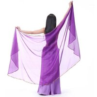 Belly Dance Scarf Shawl Stage Performance Light Texture Half Circle Veils Professional Women high quality 100D Chiffon1