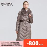 Miegofce Yeni Koleksiyon Kadın Ceket Tavşan Yaka Kadın Kış Ceket Sıradışı Renkler Rüzgar Geçirmez Kış Parka 201030