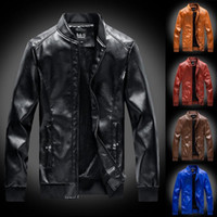 남자 재킷 망가 겨울 코트 빈티지 지퍼 스탠드 칼라 모조 자켓 가죽 좋은 패션