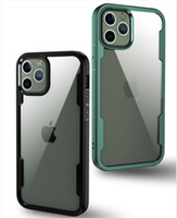 2 i 1 Clear Acrylic TPU ShockoProof Case Cover för iPhone 12 Pro Max 6.7 Hybrid Armour Case