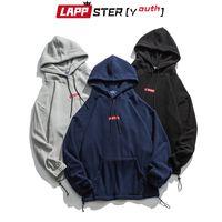 LAPPSTER-Youth Men Polar Fleece Harajuku Hooded Hoodies Embroidery Pullover Oversized Sweatshirts Korean Fashions Hoodies 201118