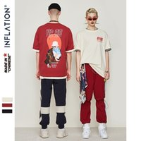 Inflación camisetas para hombre divertido imprimido manga corta tshirts suelta verano hip hop casual algodón tops tees streetwear 9140s y200409