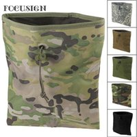 Portátil Tactical Mag Dump Pouch Paintball Recuperación Molle Magazine Bolsa Caza Slingshot Munición Bolsas