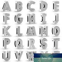 Reflexions A-Z 알파벳 26 문자 클립 잠금 마개 매력 맞는 패션 팔찌 팔찌 925 스털링 실버 비즈 DIY 쥬얼리