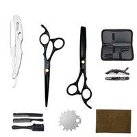 Forbici per capelli 6 '' 17 cm JP 440C Hairdressing taglio cesoie di assottigliamento professionale barbiere negozio