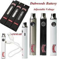 Nouveaux Dabwoods Vape Stylo Batterie 650MAH VV Préchauffer 510 Tension réglable de fil pour E Cigarettes DAB Câble USB Câble USB Paniers Batteries Boîte Paquet
