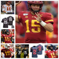 Personalizado Iowa State Cyclones Jack Trice Patch Tarique Milton Charlie Kolar Mike Rosa Johnnie Lang Chase Allen Futebol Faculdade NCAA Jersey