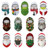 Maschera di Natale Maschera digitale Maschere per il viso Inverno Sci da sci all'aperto Cappuccio caldo Cappuccio regolabile Capodanno decorazione natale