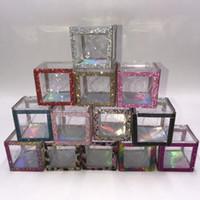 2021 Nuovi arrivi Glitter Cube Box 10pcs / lotto Design unico Eyelashes personalizzato Imballaggio per 25mm 27mm Mink Eye ciglia