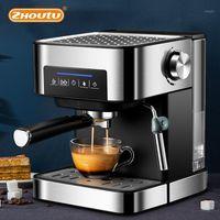 커피 메이커 Zhoutu 에스프레소 기계 내장 우유 Frother 15bar 850W 카푸치노 자동 1