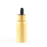 30ml 50ml shell de bambu vazio recarregável óleo essencial gotas de gotas de bambu com pipetas frasco de garrafa cosmética