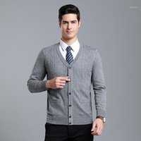 Macrosea autumnwinter grosso homens argyle lãs cardigan camisola clássico estilo macho mangas compridas camisola suéter 90821