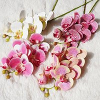 Dekorative Blumen Kränze 6 Köpfe Schmetterling Orchidee Künstliche Gefälschte Motte Flor Blume Für Hochzeit DIY Dekoration Echtuch Wohnkultur Flor