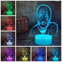 Naruto LED Night Light 3D Uchiha Sasuke Modelling Table Lamp...
