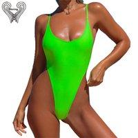 BKNING Thong costume da bagno un pezzo costume da bagno tanga tanga tagliente da bagno costumi da bagno donna nuotata fusa solido monokini badpak costumi da bagno Y200824
