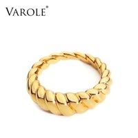 여성용 액세서리 용 Varale 트위스트 링 골드 링 링 핑거 패션 쥬얼리 선물 Bague Anillo Jewelery