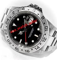 2 Arten BPF Vintage Luxus Herrenuhren Explorer 16570 216570 Mechanische Automatische Bewegung Rot Hand Sport Designer Armbanduhren