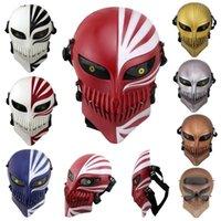 Ücretsiz Kargo Ölüm Ichigo Kurosaki Bleach Maskesi Cadılar Bayramı Masquerade Kafatası Cosplay Kostümleri CS Savaş Oyunu Taktik Sahne T200509