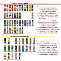 58 Designs per 18650 20700 21700 Attacca per batteria PVC Adesivo in PVC Autoadesivo Restringibile Cover Manicotto Riduzione termoretraibile per batterie Wrapper